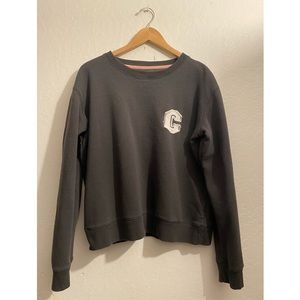 Letter C Grey Crewneck Sweater Cotton On Large